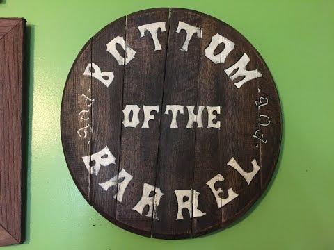 RUSTIC WHISKEY BARREL BAR PUB  SIGN DIY