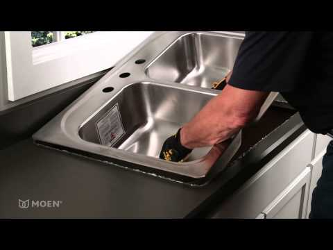 How-to Install a Stainless Steel Drop-In Sink | Moen Installation Video