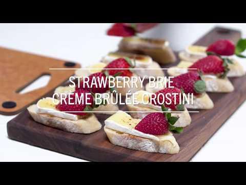 Strawberry Brie Crostini