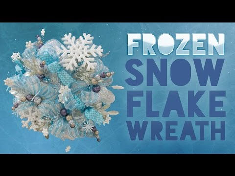 Deco Mesh Frozen Snowflake Wreath