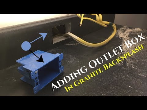 How To Cut Outlet Box in Granite 4