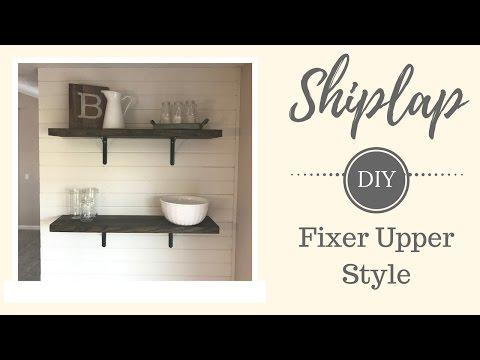Fixer Upper Style Shiplap