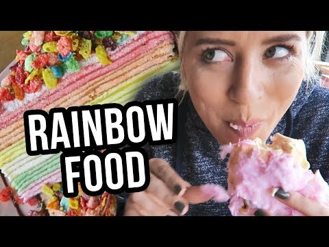 Trying the Insta Famous COTTON CANDY BURRITO?! (Lunchy Break)