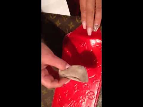 How to clean Louis Vuitton Vernis.