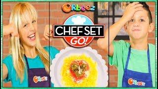 Pasta Challenge! Chef Set Go! Makes Spicy Meatballs!   Official Orbeez