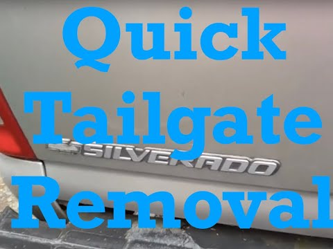 How to Remove GMC Chevrolet Truck Tailgate-Super Quick and Easy