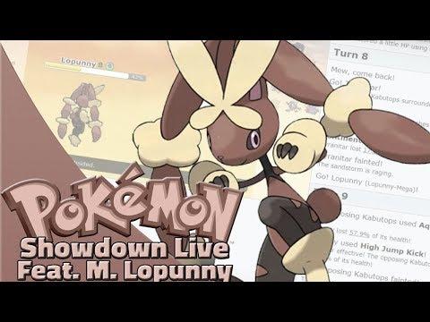 Mega Lopunny Team! Pokemon Sun and Moon OU Showdown Live W/OPJellicent (Smogon Sun/Moon OU Team)