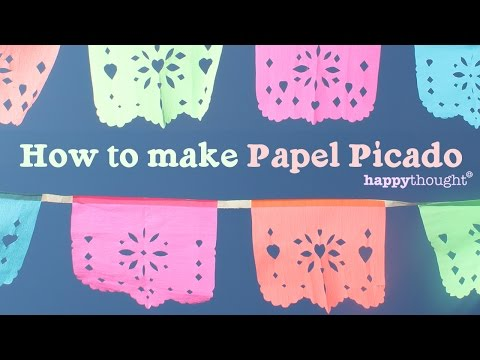 How to make your own DIY papel picado for parties or fiestas at home!