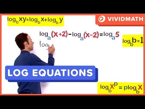 07 Logarithmic Equations 04 - VividMaths.com