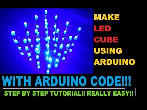 How to Make LED CUBE 4X4X4 USING ARDUINO UNO