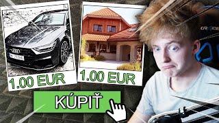 Kúpil som si LUXUSNÉ AUTO a BARÁK len za 1 EURO!!!