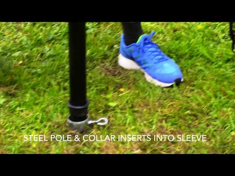In-Ground Pole Barrier Netting Poles Basic Demo