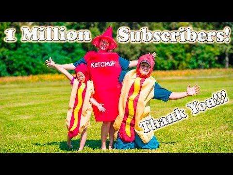 THE ENGINEERING FAMILY 1 Million Subscriber HOT DOG Slip N Slide Video