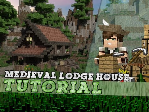 Minecraft Tutorial: Small Medieval Lodge House!