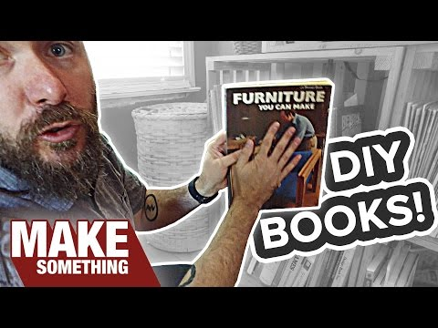 My DIY and Woodworking Book Collection | Vlog 08