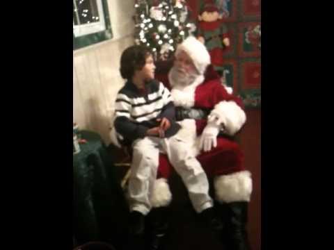 Deyton sees Santa 2010