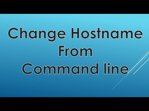 Change Hostname in Linux/Unix  | Step by Step Demo
