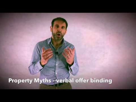 Property Myths - Verbal offer binding