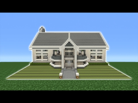 Minecraft Tutorial: How To Make A Modern Suburban Mansion