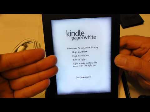 Amazon Kindle Paperwhite unboxing and setup