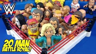 HUGE WWE Toys Battle Royal!! Shake Rumble Wrestling with WWE Mystery Minis // RUMBLE LEAGUE