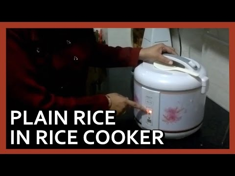 How to make rice in electric cooker | Electric Rice Cooker demo by Healthy Kadai