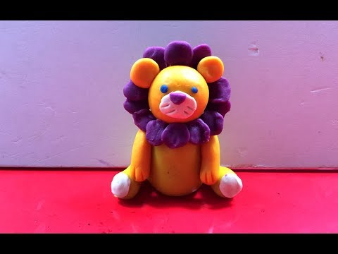 Clay art animals | How to make a clay Lion | Art for kids