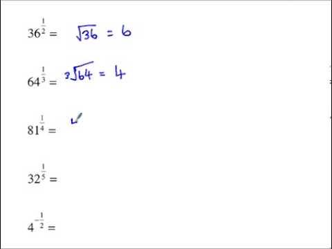 Higher GCSE Maths Fractional Indices