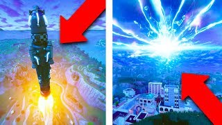 FORTNITE ROCKET LAUNCH! *LIVE REACTION & REPLAY MODE!*