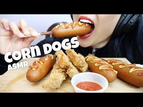 ASMR Corn Dogs + CRUNCHY FRIED Potato Wedges (EXTREME EATING SOUNDS) NO TALKING   SAS-ASMR