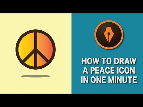 Draw a Peace Icon in Illustrator in One Minute| #illustratortutorials