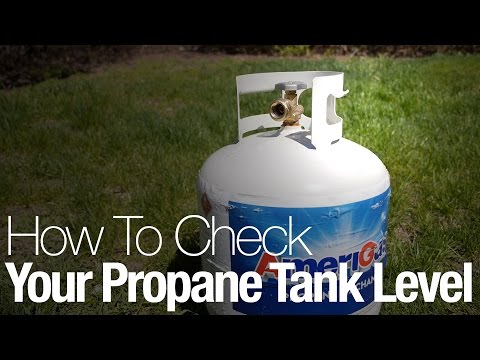 Check how full your propane tank is with this simple trick