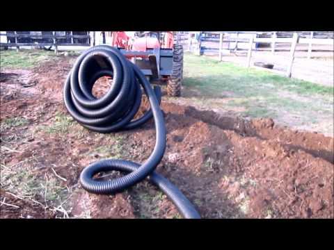 Installing Big-O Drain Pipe