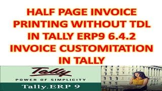 landscape invoice print in tally erp9 Videos - 9tube tv