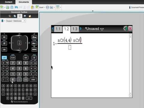 Ti Nspire CAS Calculator Solving Probabilities I
