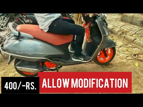 Allow modification for Scooty | Customized paint like KTM | Karol Bagh, New Delhi.