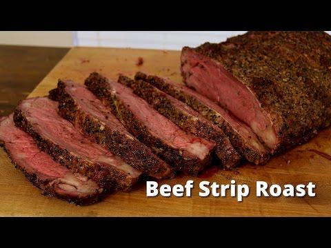Smoked Strip Loin Roast | NY Strip Loin Roast on Ole Hickory Smoker with Malcom Reed HowToBBQRight