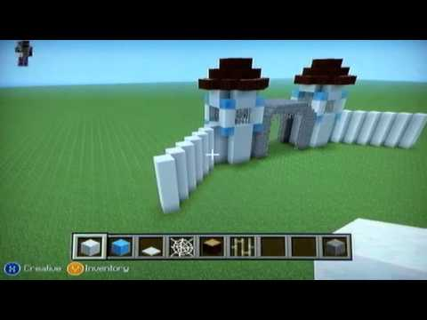 Minecraft how to build a ice castle part 2