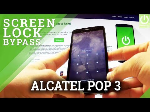 Hard Reset ALCATEL OneTouch Pop 3 - Bypass Pattern Lock / Format Android