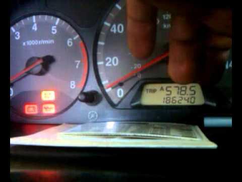 2001 acura 3.2 cl maintenance light reset