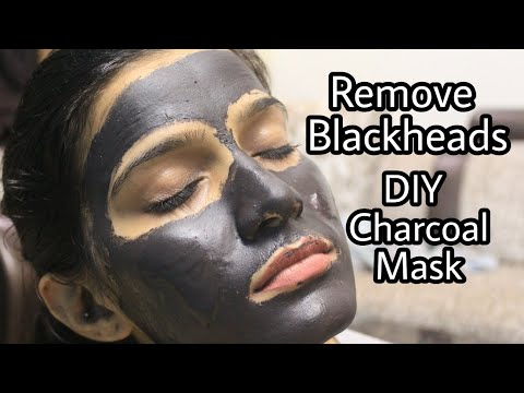 HOW TO : DIY Easy Charcoal Peel off Mask For Blackheads | Whiteheads |