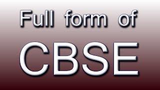 Full form of CBSE | Music Jinni