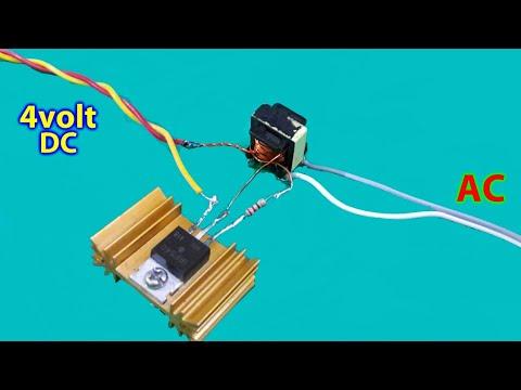 DC to AC mini lnverter (using single mosfet)