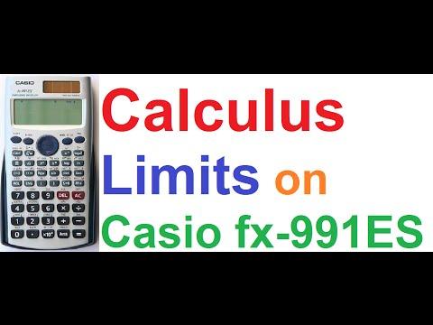 Calculus - Finding Limits using Casio fx-991ES Scientific Calculator