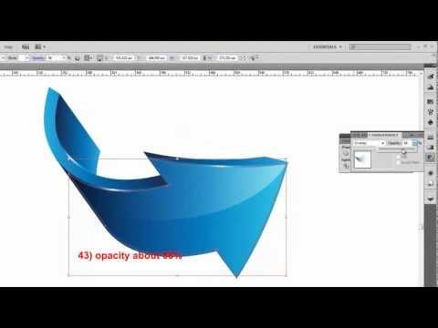 3D arrows logo adobe illustrator tutorial HD