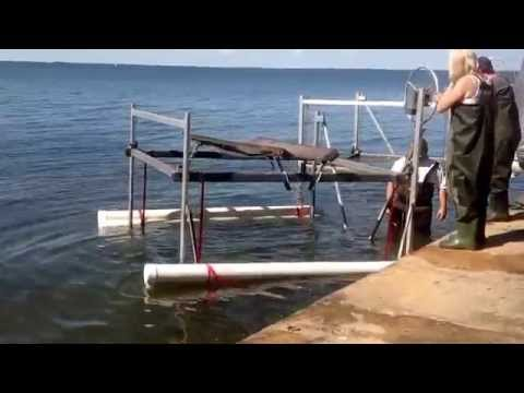 Boat lift float and drop in place
