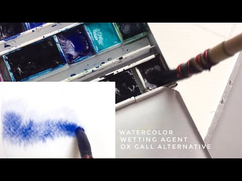diy wetting agent for watercolor - make paint flow better