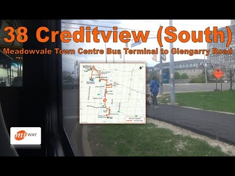 38 Creditview (South) - MiWay 2008 New Flyer D40LFR 0806 (Meadowvale  Ctr Terminal to Glengarry Rd)