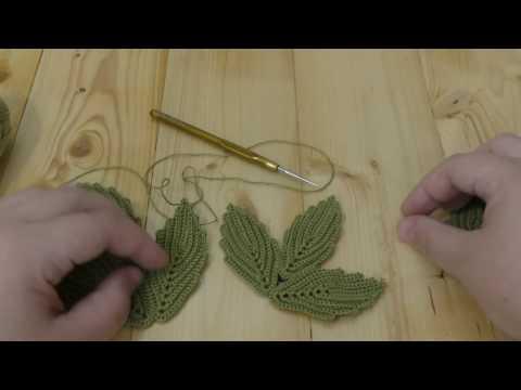 Classic irish crochet lace leaf