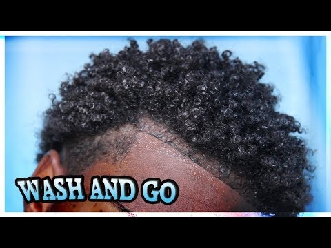 MY NATURAL HAIR WASH AND GO ROUTINE! + DEFINED CURLS!